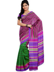 Triveni sarees Art Silk Printed Saree - Green - TSRISB606BA