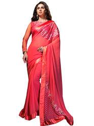 Nanda Silk Mills Georgette Embroiderd Saree -Vf-106
