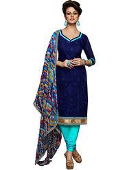 Khushali Fashion Chanderi Embroidered Unstitched Dress Material -VSIDC451009
