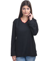 Eprilla Spun Cotton Plain Full Sleeves Sweater  -eprl31