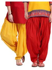 Combo of 2 Javuli Plain Pure Cotton Semi Patiala Salwar-ja65