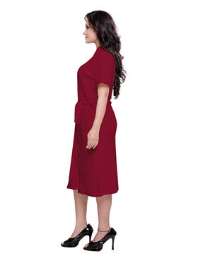 Maroon Turkish Cotton Bathrobe_DB-BR-RTM-210