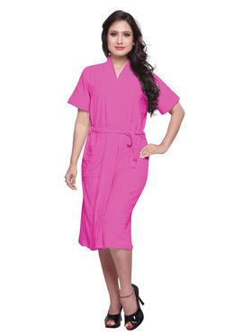 Pink Turkish Cotton Bathrobe_DB-BR-RTM-205
