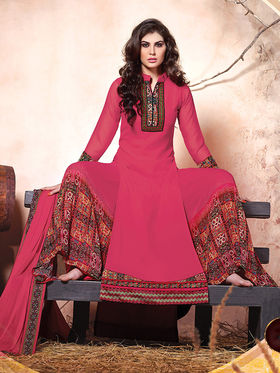 Viva N Diva Embroidered Pure Chanderi Silk Semi Stitched Suit 10018-Elnaa