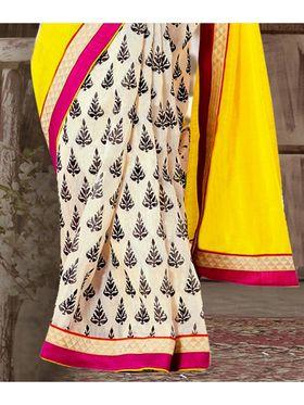 Viva N Diva Printed Bhagalpuri Silk Saree -sa08