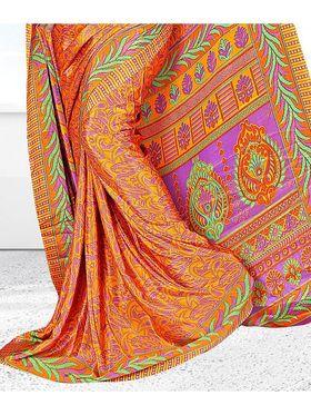 Viva N Diva Printed American Crepe Saree -sy43