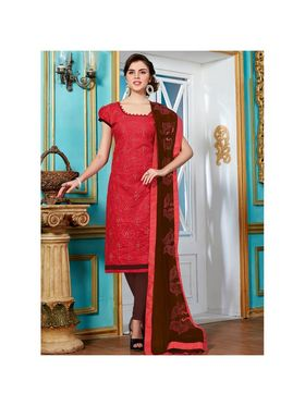 Viva N Diva Emroidered Unstiched Cotton Dress Material_11129-Elifa
