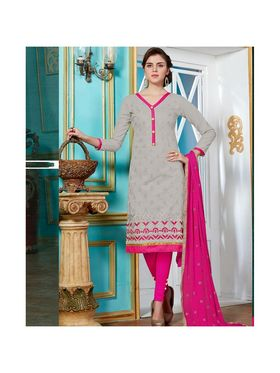 Viva N Diva Emroidered Unstiched Cotton Dress Material_11136-Elifa