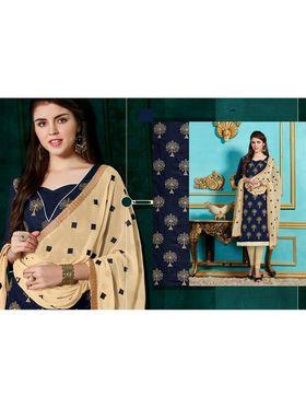 Viva N Diva Emroidered Unstiched Cotton Dress Material_11137-Elifa