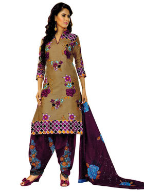 Pack of 2 Priya Fashions Cotton Printed Dress Material - PFS2CB