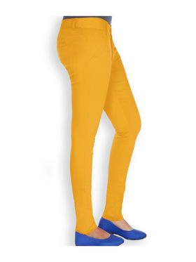Uber Urban Cotton Lycra Solid Pant - Mustard_AURA-CP-MUST