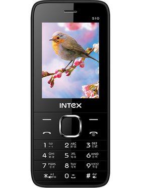 Intex Mega 510 Dual SIM Mobile Phone - White & Black