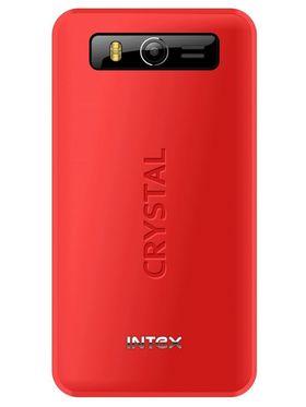 Intex Crystal 701 Dual SIM Mobile Phone - Black & Red