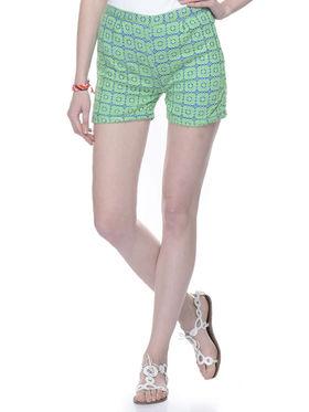Lavennder Cotton Net Ladies Short Full Lining  - Green_LW-5156