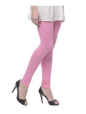 Combo Of 6 Lavennder Cotton Lycra Solid Legging_CNLEG-2904-4