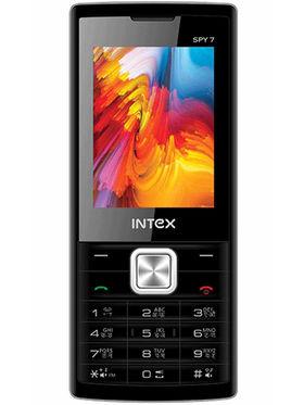 Intex Spy 7 2.4 Inch Dual Sim - Silver & Black