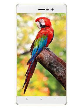Karbonn Titanium S205 2GB 5 Inch Android (Lollipop) Dual Sim 3G Calling Smartphone - White & Gold