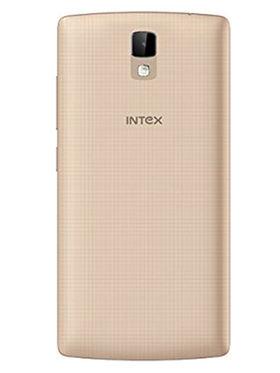 Intex Aqua Craze 5 Inch Quad Core Lollipop 4G Smartphone (RAM:1GB ROM:8GB) - Champagne