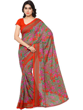 Combo of 3 Triveni Faux Georgette Printed Saree -Tsco57