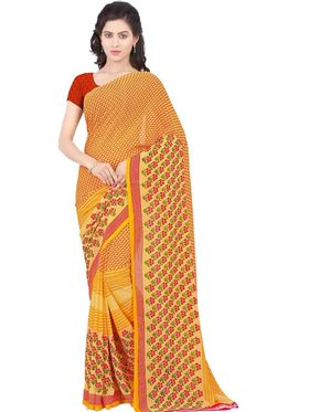 Combo of 3 Triveni Faux Georgette Printed Saree -Tsco60