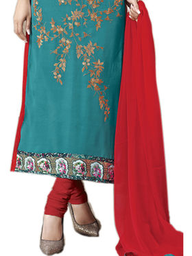 Viva N Diva Emroidered Unstiched  Dress Material_11295-Shruti