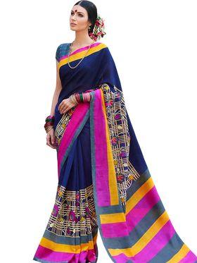 Viva N Diva Printed Bhagalpuri Silk Saree -11094-Banarasiya-06