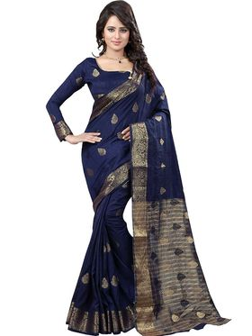 Viva N Diva Jacquard Banarasi Silk Saree -11381-Color Crush-03