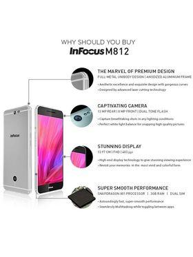 InFocus M812i (ROM : 3GB RAM : 16GB,Silver)