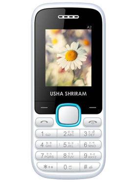 Usha Shriram A2 Feature Phone (White and Blue)