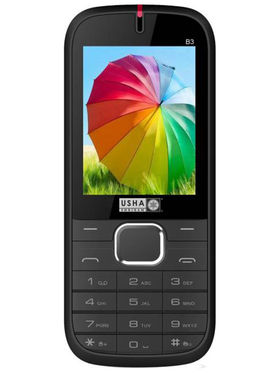 Usha Shriram B3 Feature Phone (Dual Sim, Black & Red)