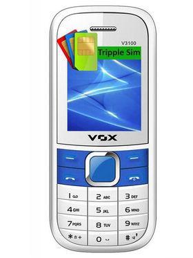 Combo of VOX Whatsapp Triple SIM Feature Phone(Black + White)