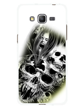 Snooky Designer Print Hard Back Case Cover For Samsung Galaxy Core Prime G360H - White