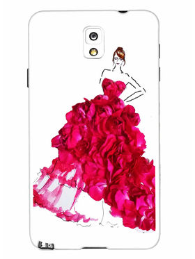 Snooky Designer Print Hard Back Case Cover For Samsung Galaxy Note 3 - Pink