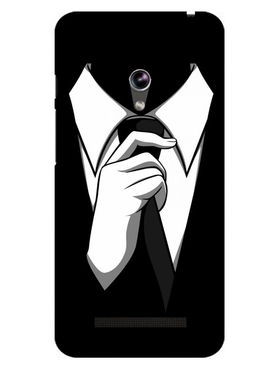 Snooky Designer Print Hard Back Case Cover For Asus Zenfone 4.5 - Black