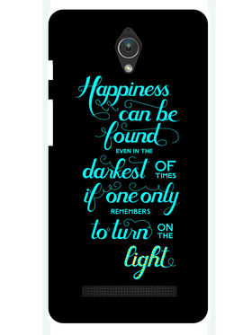 Snooky Designer Print Hard Back Case Cover For Asus Zenfone C ZC451CG - Black