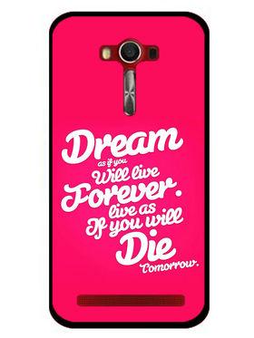 Snooky Designer Print Hard Back Case Cover For Asus Zenfone 2 Laser 5.0 (ZE500KL) - Rose Pink
