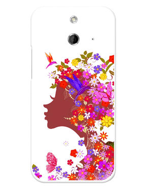Snooky Designer Print Hard Back Case Cover For HTC One E8 - Multicolour