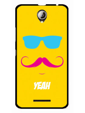 Snooky Designer Print Hard Back Case Cover For Lenovo A5000 - Yellow