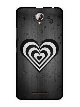 Snooky Designer Print Hard Back Case Cover For Lenovo A5000 - Grey