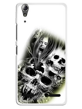 Snooky Designer Print Hard Back Case Cover For Lenovo A6000 - White