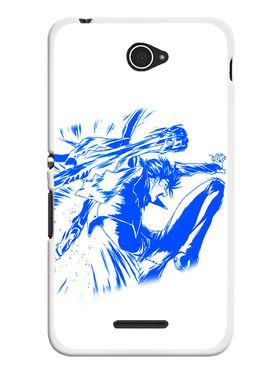 Snooky Designer Print Hard Back Case Cover For Sony Xperia E4 - Blue