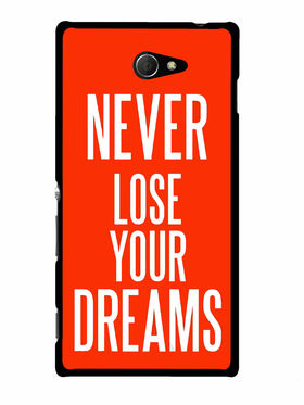 Snooky Designer Print Hard Back Case Cover For Sony Xperia M2 - Red