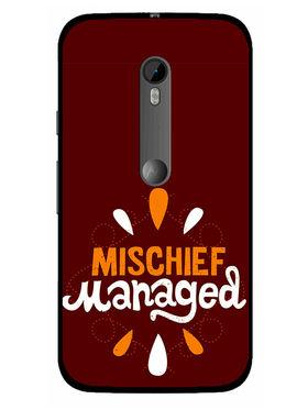 Snooky Designer Print Hard Back Case Cover For Motorola Moto G (Gen 3) - Red