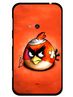 Snooky Designer Print Hard Back Case Cover For Nokia Lumia 625 - Orange
