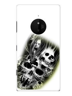 Snooky Designer Print Hard Back Case Cover For Nokia Lumia 830 - White