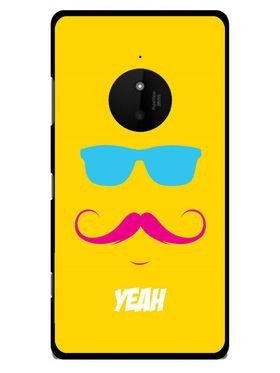 Snooky Designer Print Hard Back Case Cover For Nokia Lumia 830 - Yellow