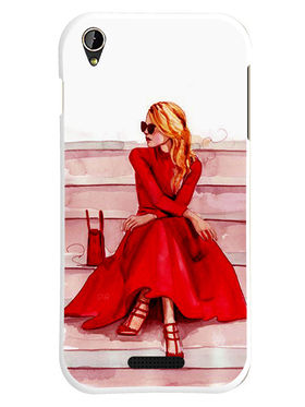 Snooky Designer Print Hard Back Case Cover For Lava Iris X1 mini - Red