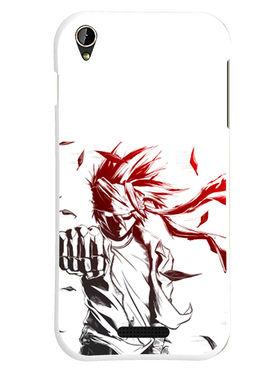 Snooky Designer Print Hard Back Case Cover For Lava Iris X1 mini - White