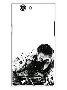 Snooky Designer Print Hard Back Case Cover For Xolo A500s - Black