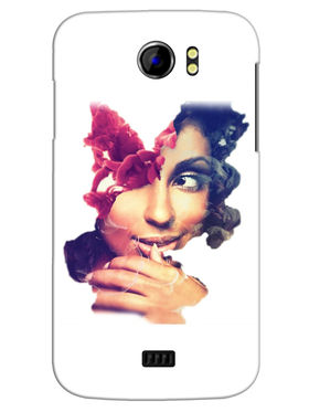 Snooky Designer Print Hard Back Case Cover For Micromax Canvas 2 A110 - Multicolour